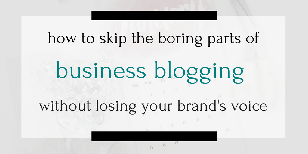 Can you outsource business blogging (especially the boring parts) while still staying true to your brand and voice? Yes yes yes! Click through to find out how.