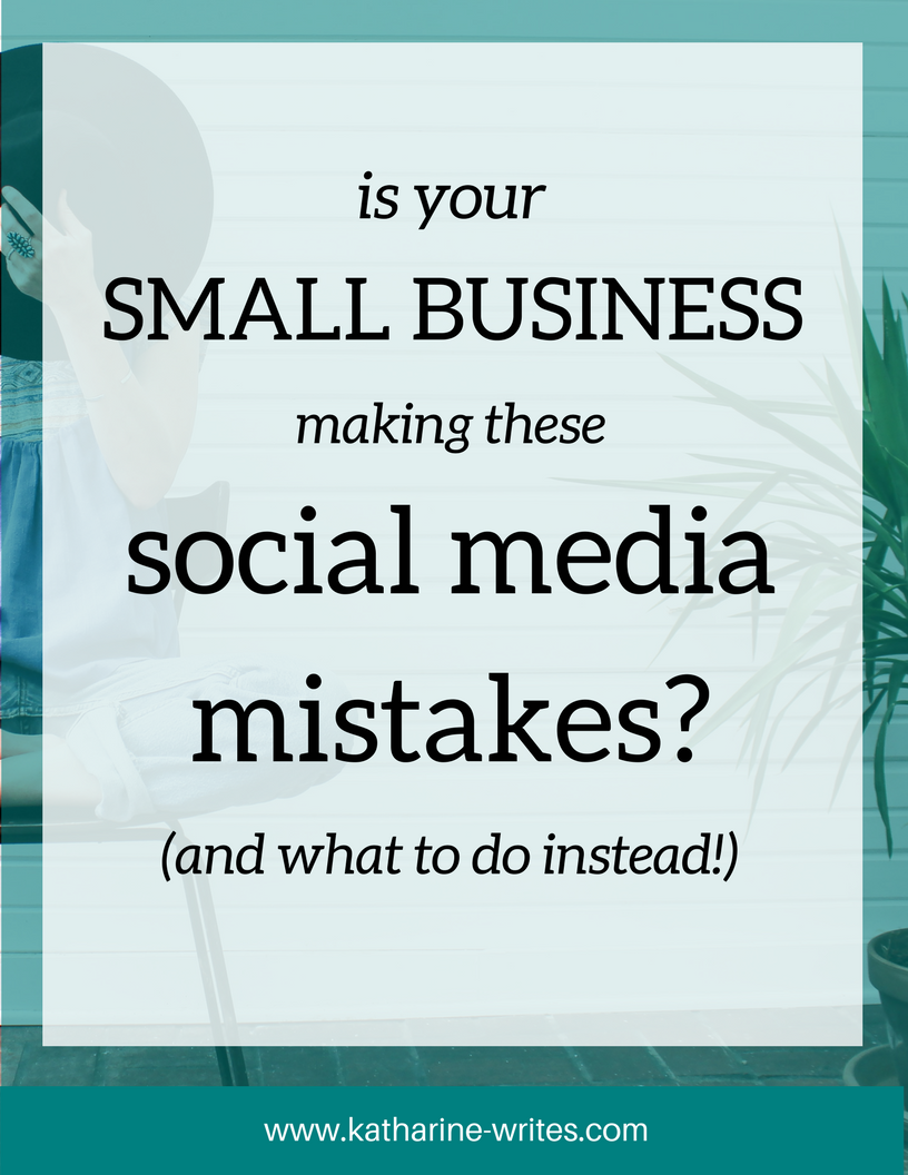 Does your small business make one of these social media mistakes?
