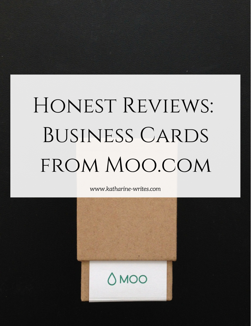 Honest review business cards from moo katharine writes are moo business cards worth paying a little extra for ill tell you reheart Gallery
