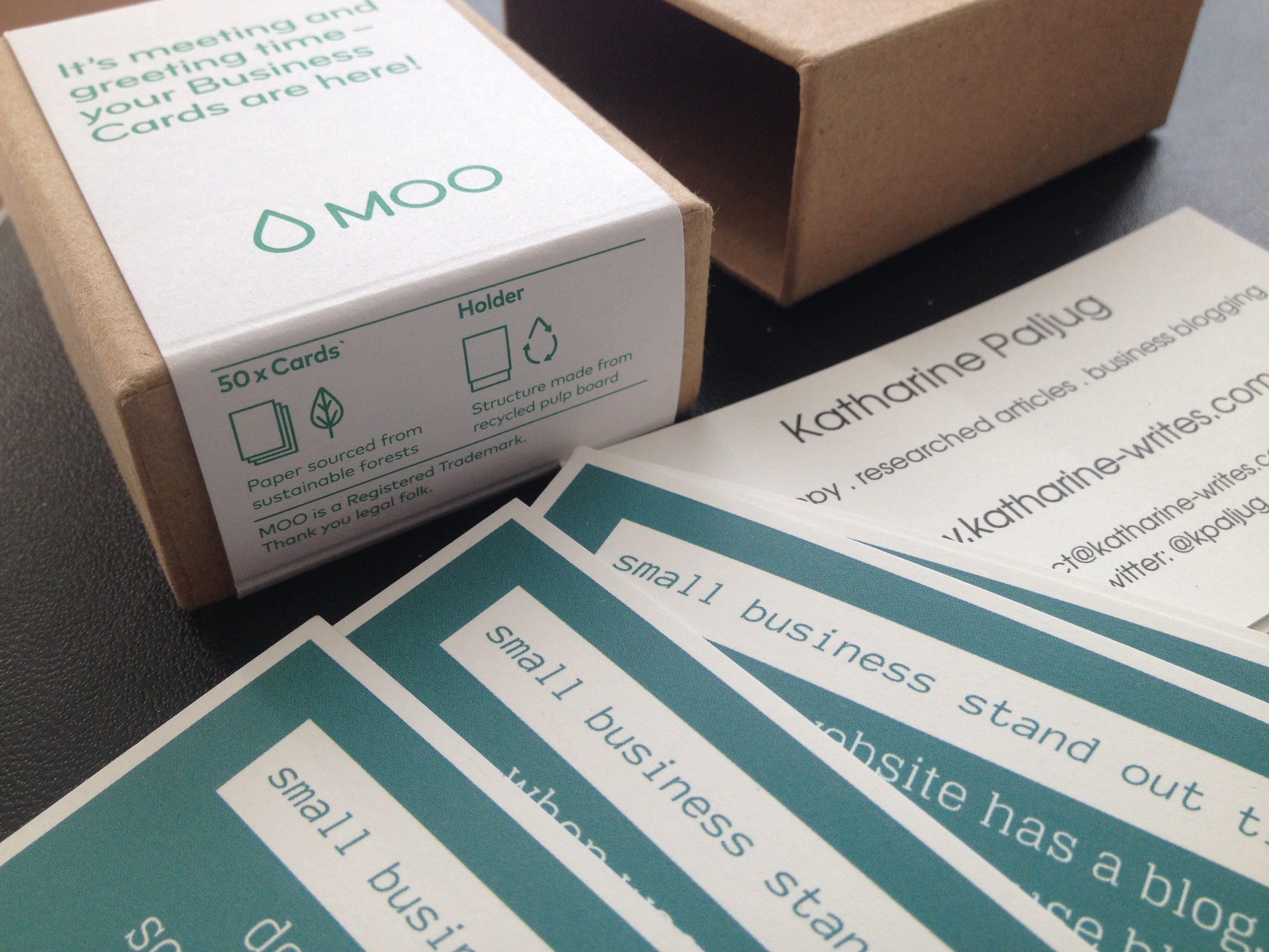 Honest Review: Business Cards from Moo | Katharine Writes