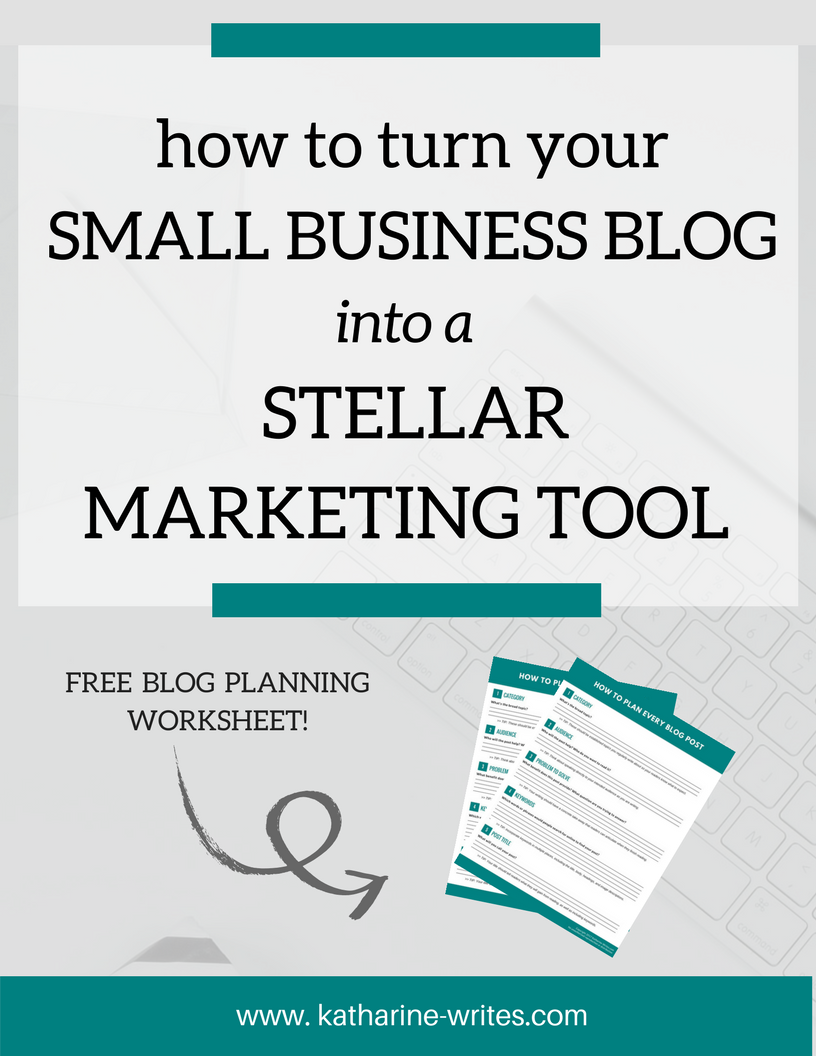 You don't just want to write a blog. You want it to work for your business. Here's how to turn your blog into a part of your marketing strategy -- plus a free template to help you get started! Click through to read more or pin to save for later!