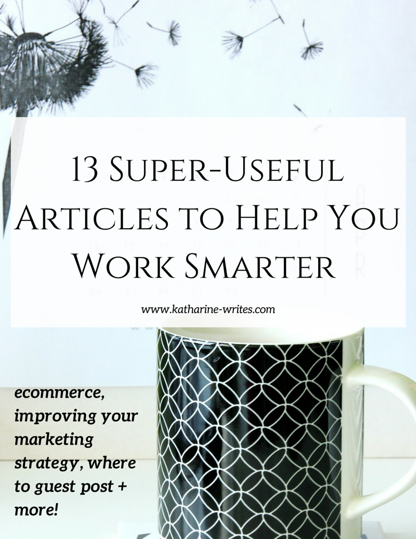 Working smarter in your online business, from ecommerce to partnering with other businesses. Click through to read now or pin to save for later!