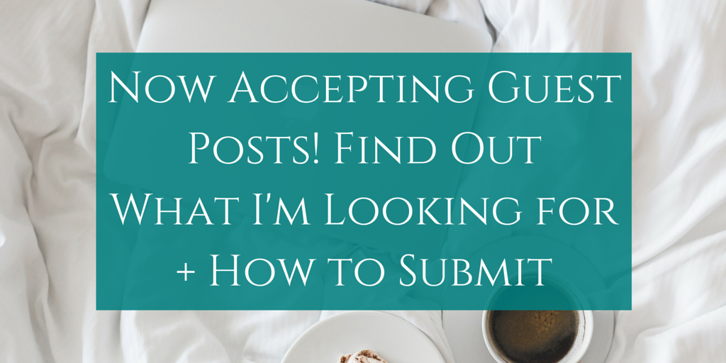 Call for Guest Posts for Katharine Writes