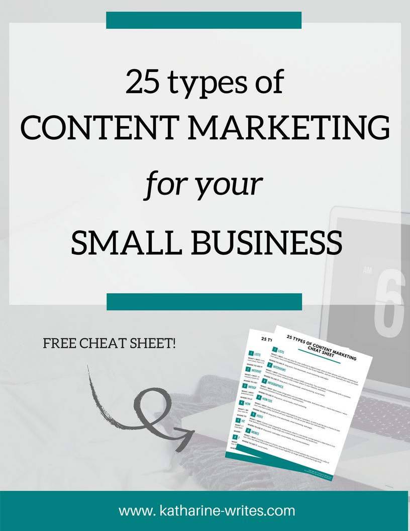 25 Types of Content Marketing for Your Small Business