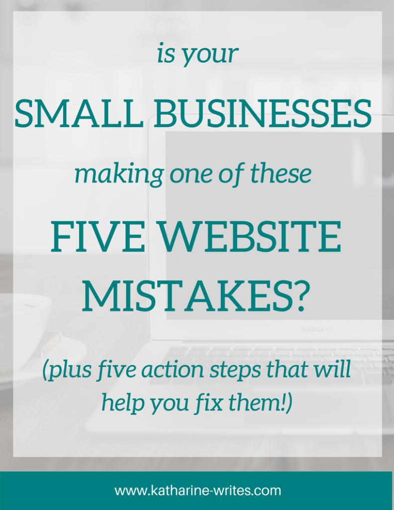 5 Mistakes New Websites Make   Katharine Writes